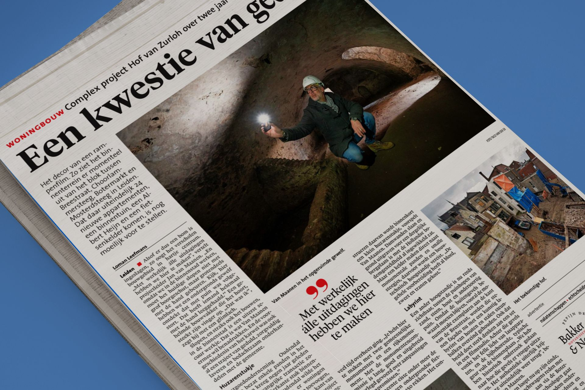 Hof van Zurloh in het Leidsch Dagblad